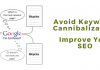 Avoid Keyword Cannibalization